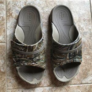 Crocs Slide Sandals, size 9 men, 11 for women.